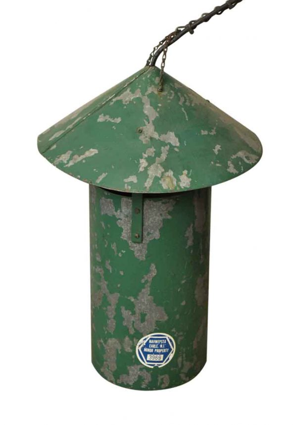 Green Steel Hanging Lantern - Wall & Ceiling Lanterns