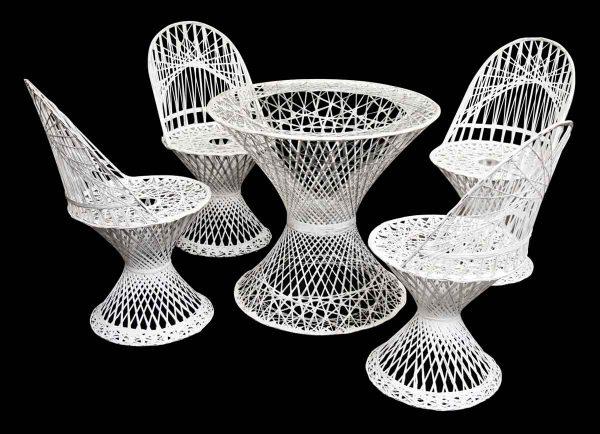 White Modern Wicker Patio Set - Patio Furniture