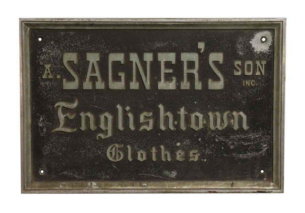 Sagner's Sign - Vintage Signs