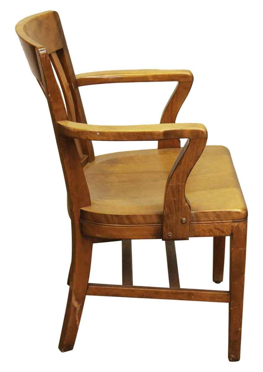 Solid Maple Bankers Arm Desk Chair