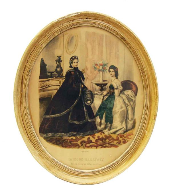 Framed Oval Victorian Print - Prints