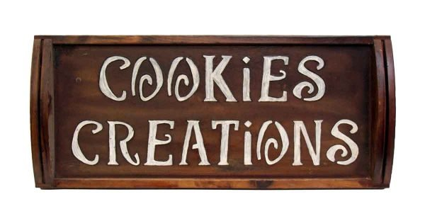 Wooden Cookie Creations Sign - Kitchen