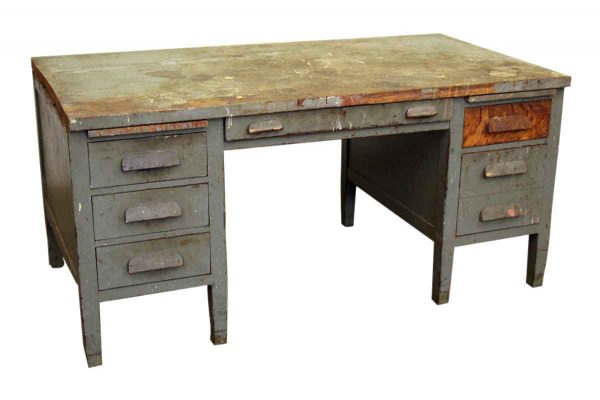 Worn Wood Desk - Office Furniture