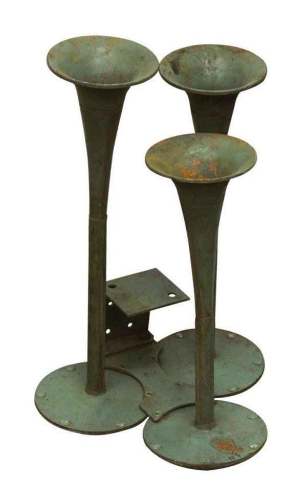 Vintage Green Triple Air Horn - Bells