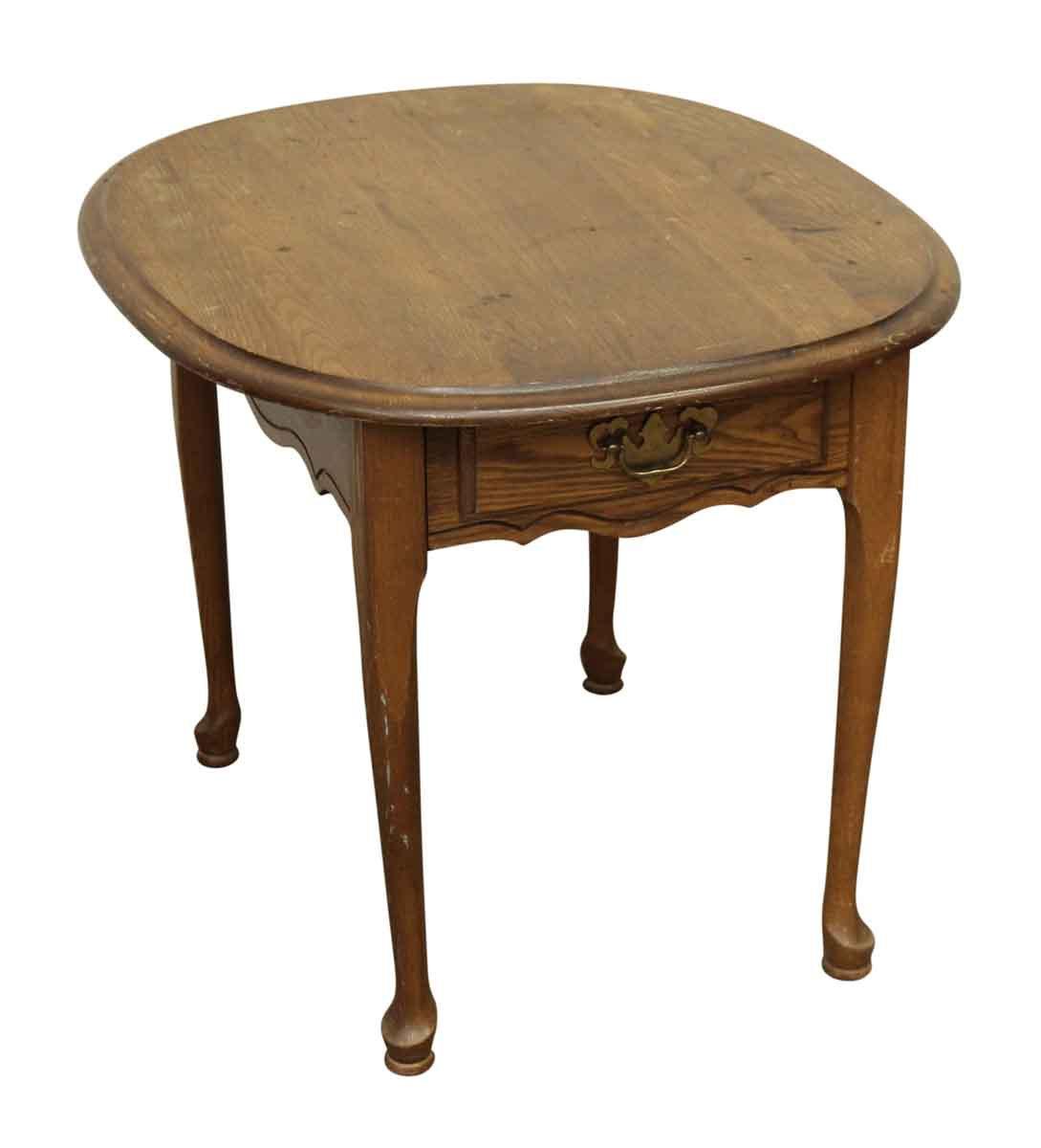 Wooden Side Tables For Living Room: Wooden Oval Side Table