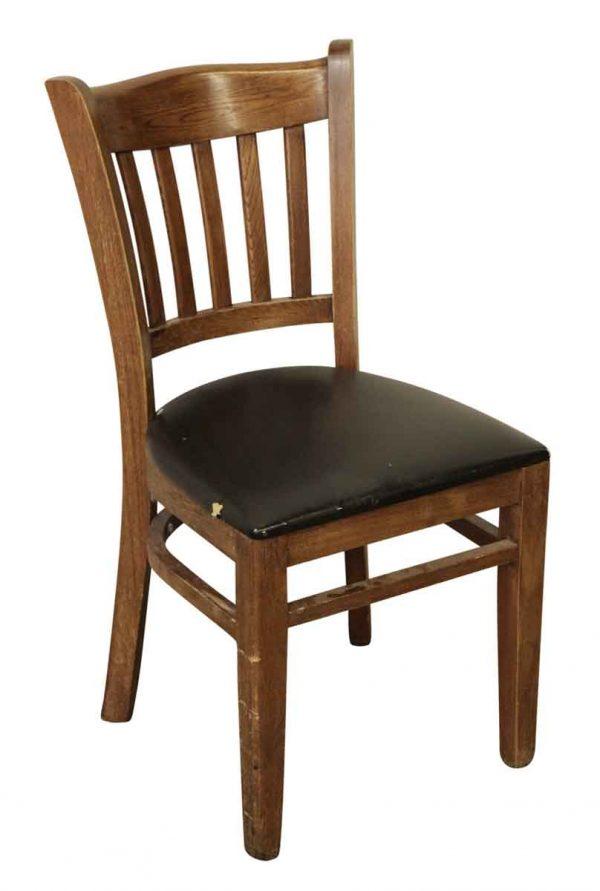 Wooden Back Vinyl Chair - Office Furniture