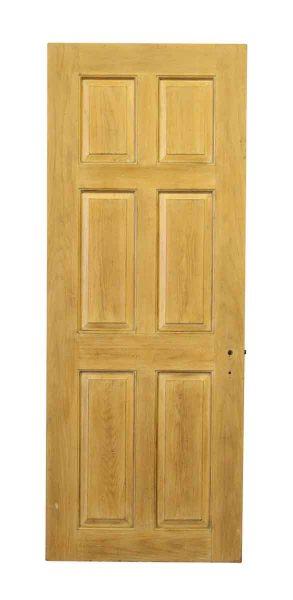 Six Panel Wooden Door with No Hardware - Standard Doors