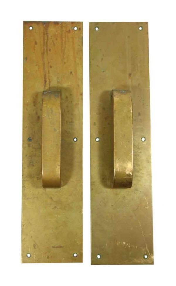 Pair of Brass Commercial Door Pulls - Door Pulls