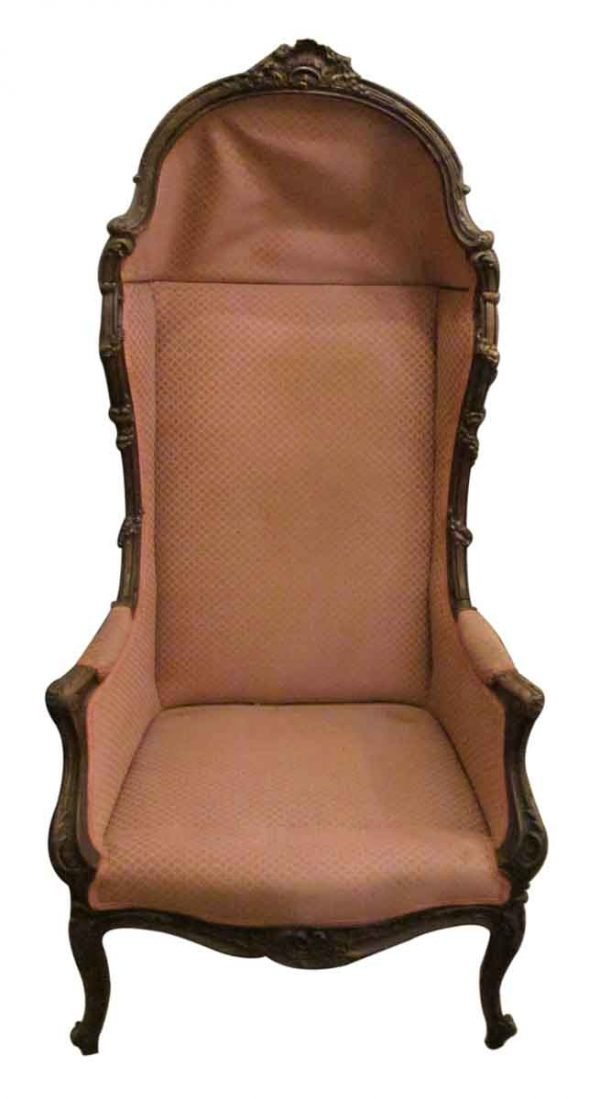 Louis Xiv Versaille Walnut Canopy Chair - Living Room