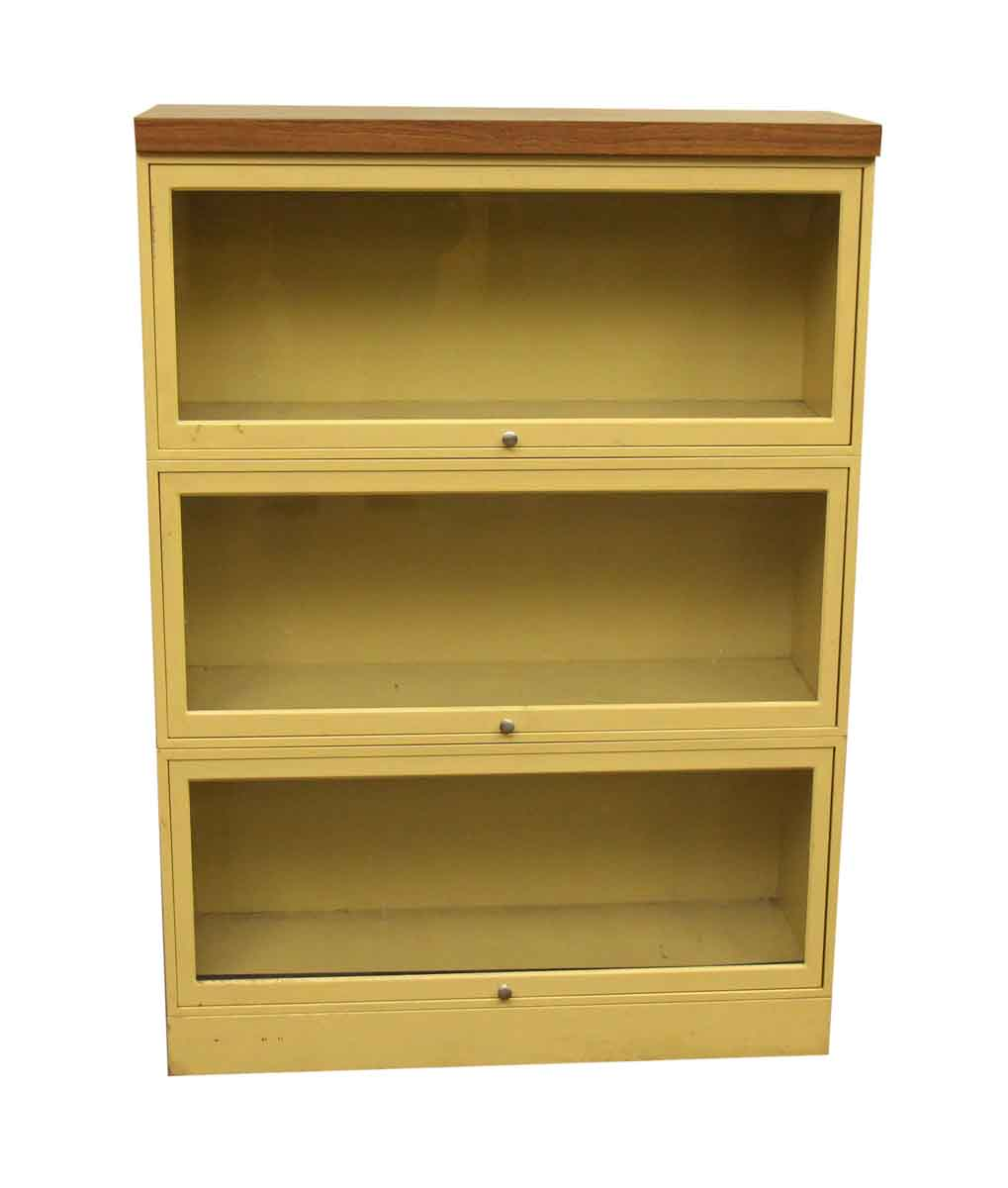 Yellow Metal Barrister Bookcase