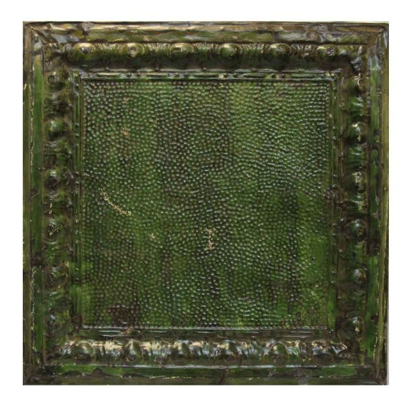 Green Textured Tin Panel - Tin Panels