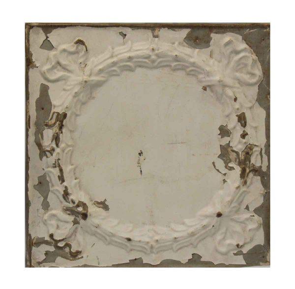 White Wreath Tin Panel - Tin Panels