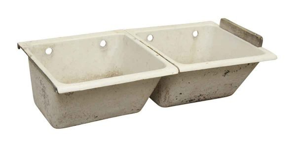 Two Bay Porcelain Sink - Kitchen