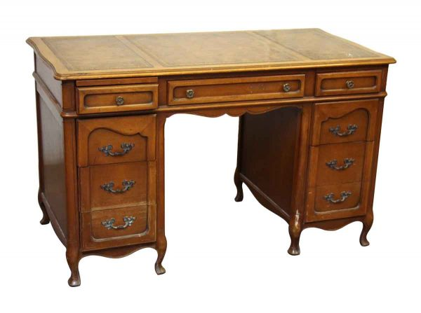 Hathaways Leather Top Lawyers Desk - Office Furniture