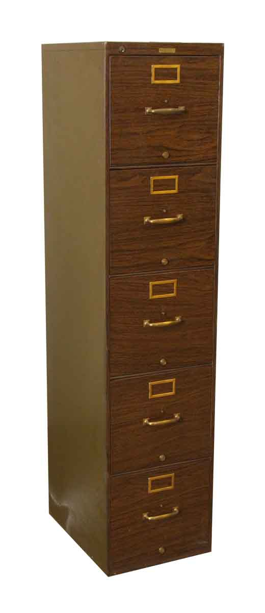 Metal Wood Print File Cabinet - Office Furniture