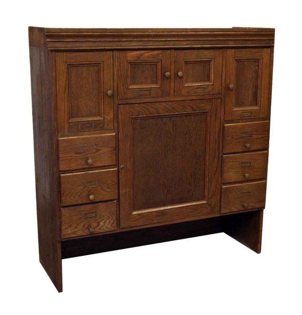 Solid Oak Hutch - Cabinets