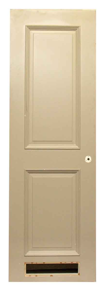 Single Two Panel Beige Door - Specialty Doors