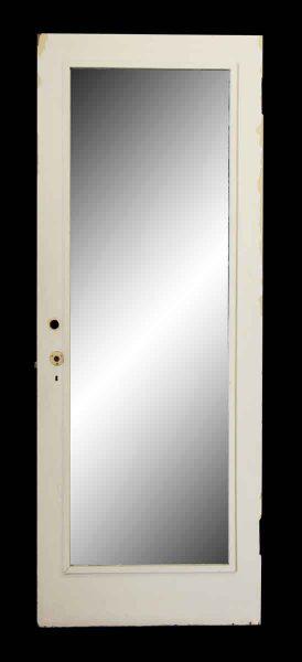 Door with Mirror Panel & Yellow Paint - Closet Doors