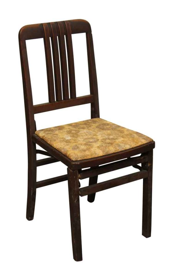 Single Dark Stain Chair - Seating
