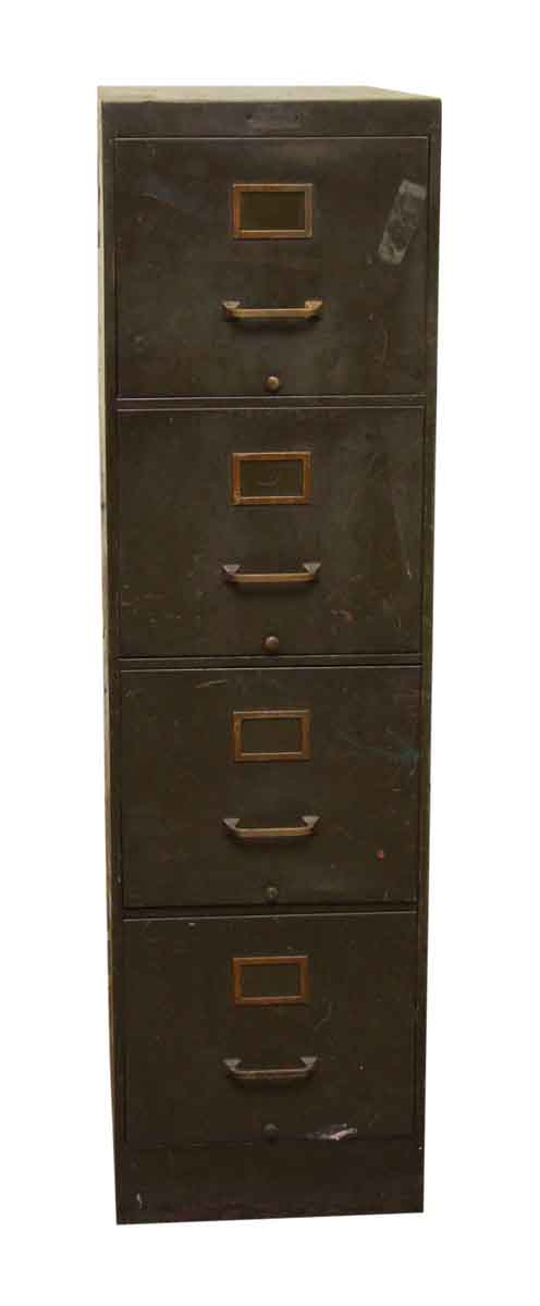 Metal File Cabinet with Four Drawers - Cabinets