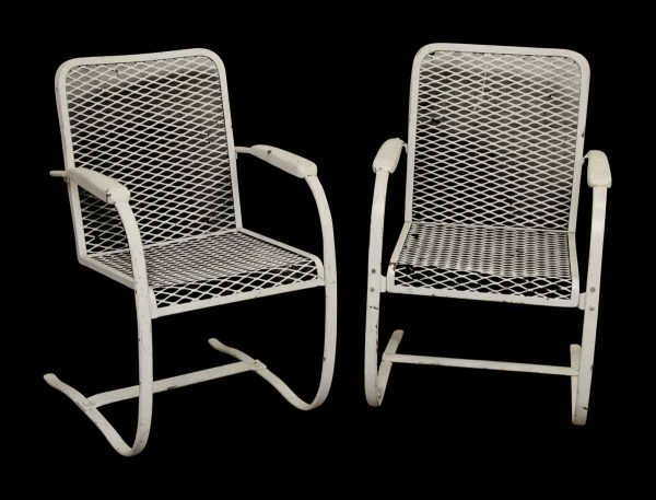 Pair of Mesh Garden Chairs - Patio Furniture