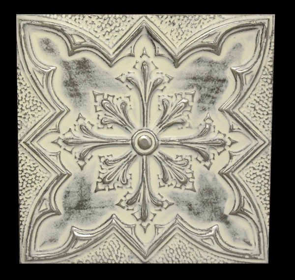Gothic Fleur de Lis Replica Tin Panel - Replica Tin Mirrors & Panels