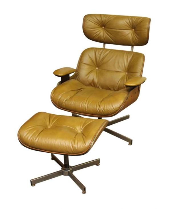 Mid Century Lounge Chair with Foot Stool - Living Room
