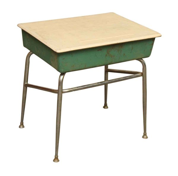 Metal Green School Desk - Office Furniture
