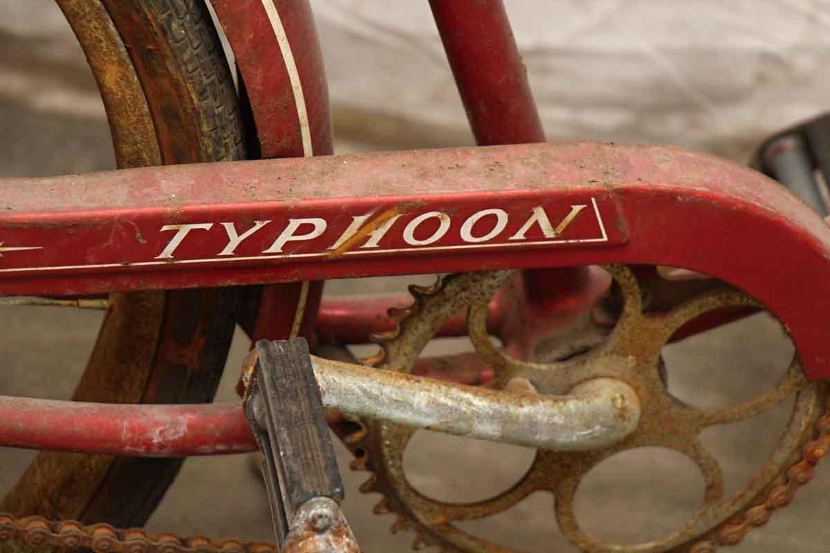 381737c57f8 Red Schwinn Typhoon Bike with Basket | Olde Good Things