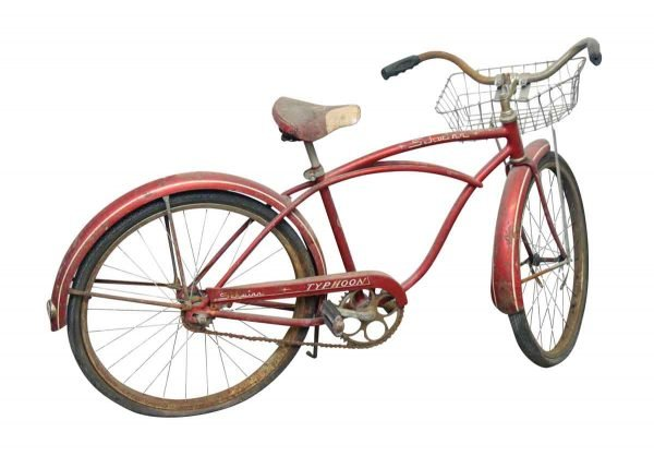 Red Schwinn Typhoon Bike with Basket - Bicycles