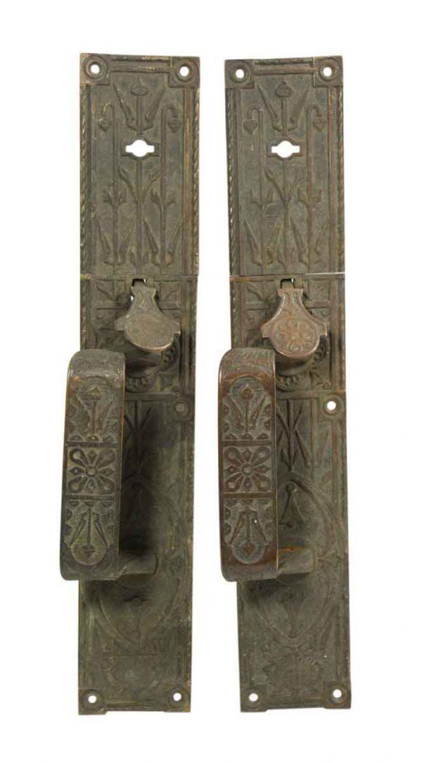 Pair of Bronze Aesthetic Door Pulls - Door Pulls
