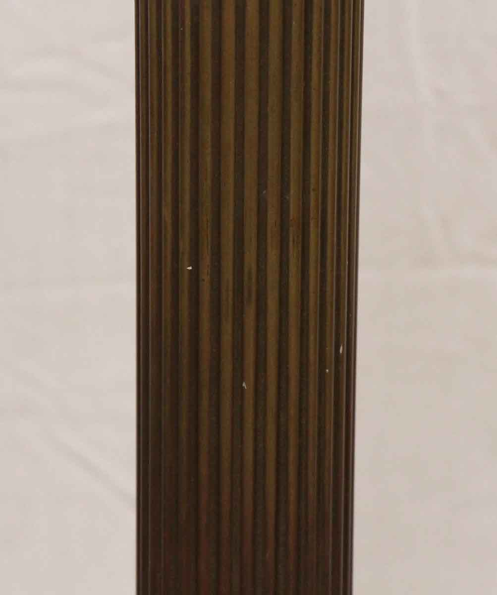 heavy cast brass greek pillar floor lamp | olde good things