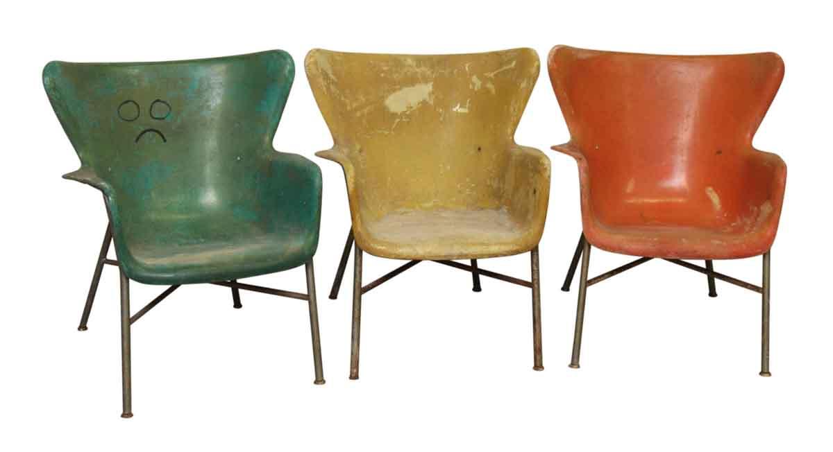 Multicolored Fiberglass Chairs