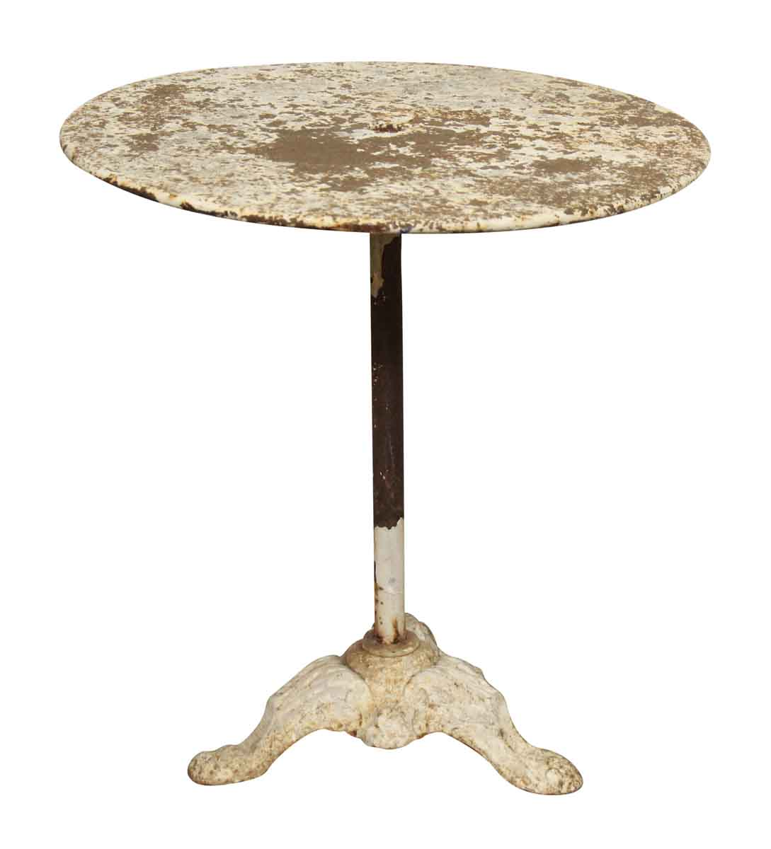 Cast iron pedestal patio table not on brook 5 9 17 fr for Cast iron outdoor coffee table