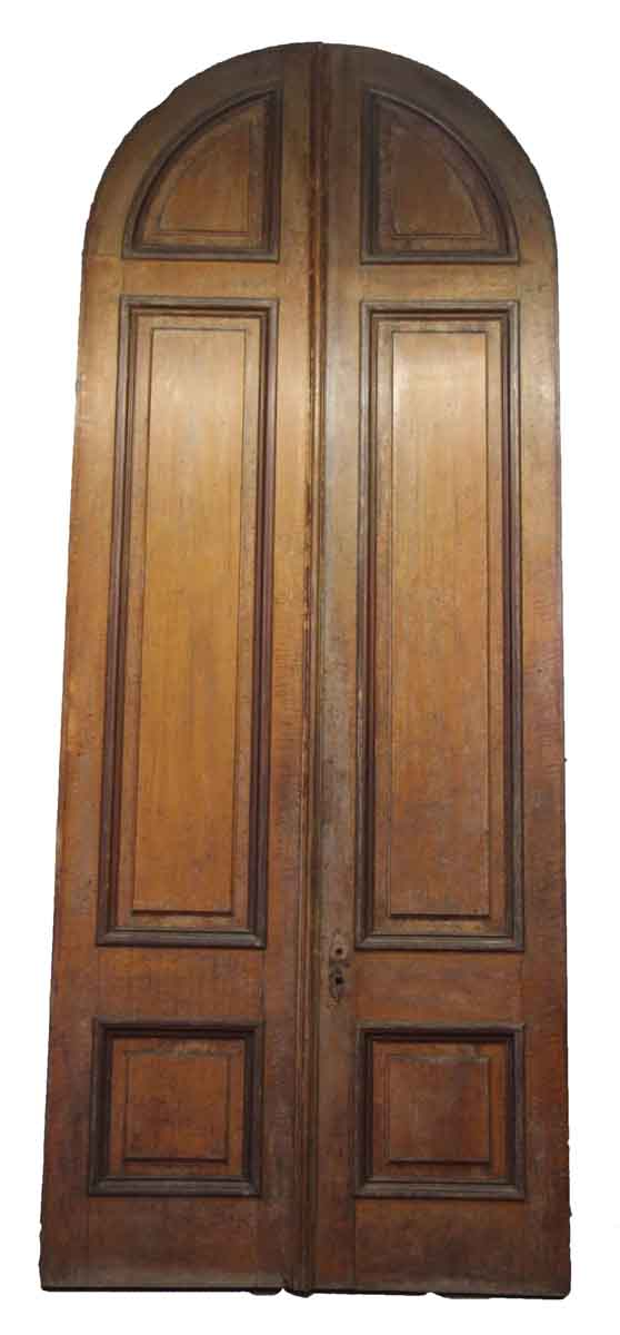 Pair of Arched Entry Double Doors - Arched Doors