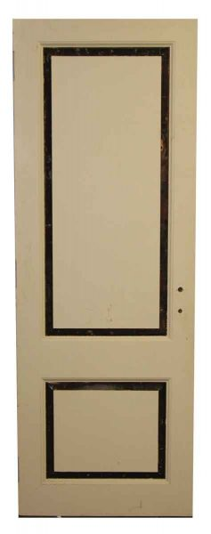 Cream and Black Two Panel Door - Standard Doors