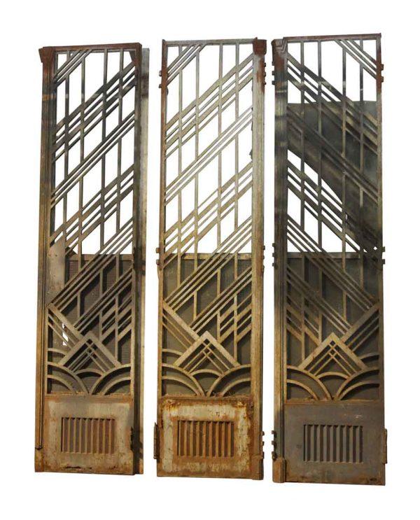 Art Deco Cast Iron Double Bifold Doors - Commercial Doors