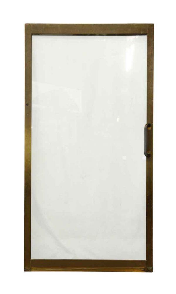Mid Century Brass Frame Sliding Doors - Commercial Doors