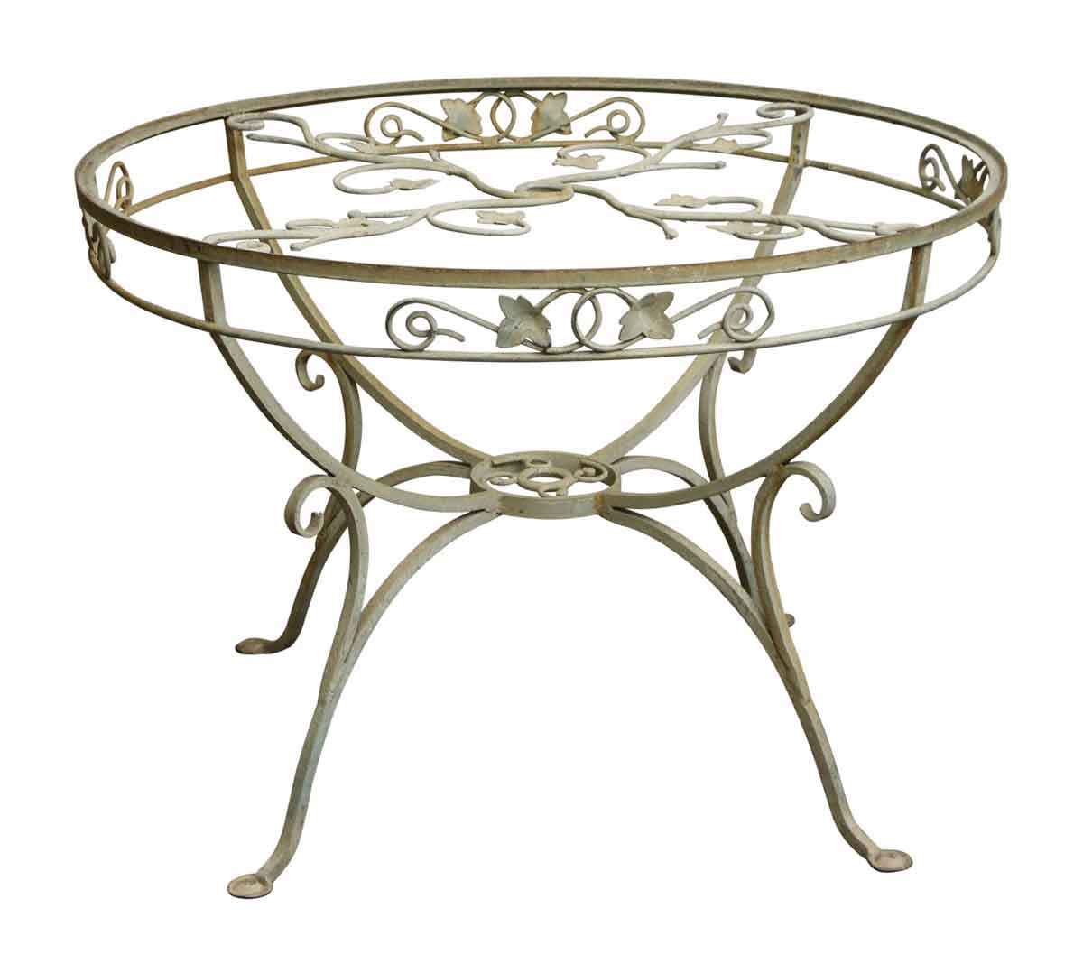 Wrought Iron Patio Table With Vine Detail