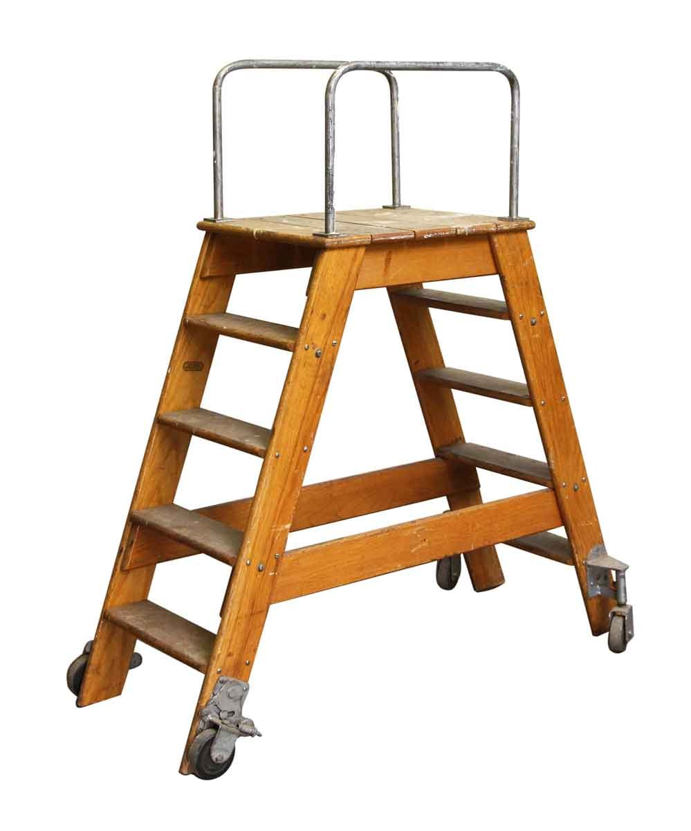 Magnificent Putnam Rolling Ladder Co Ny Two Sided Step Ladder Spiritservingveterans Wood Chair Design Ideas Spiritservingveteransorg