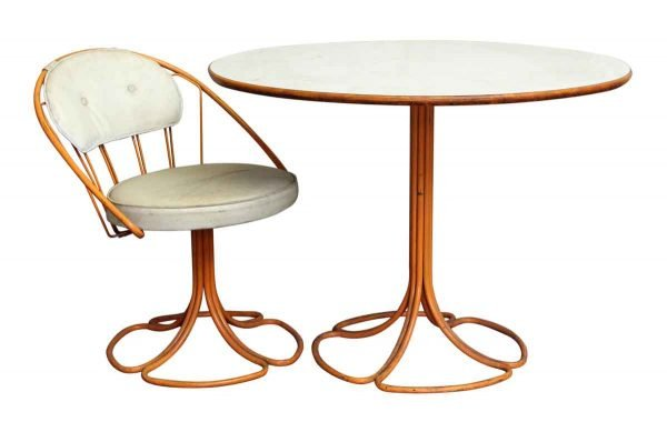 Metal Patio Table with Chair - Patio Furniture