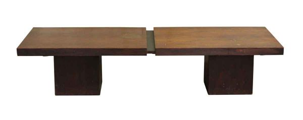 Wooden Expandable Lobby Bench with Block Legs - Seating