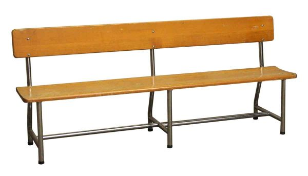 Auditorium Wood & Chrome Bench - Seating