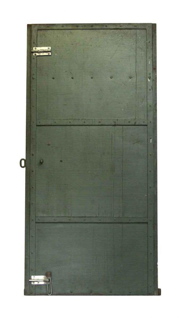 Industrial Green Metal Door - Commercial Doors