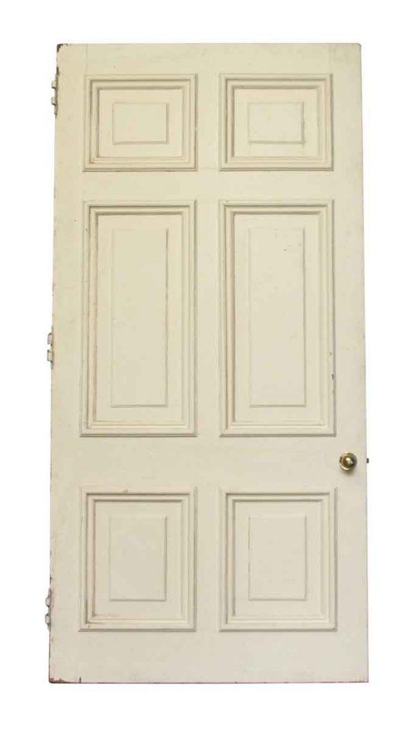 Six Recessed Panel White Painted Door - Standard Doors