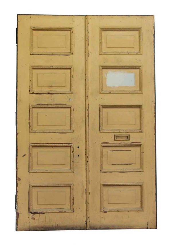 Five Panel Double Doors with Beaded Panel Trim - Standard Doors