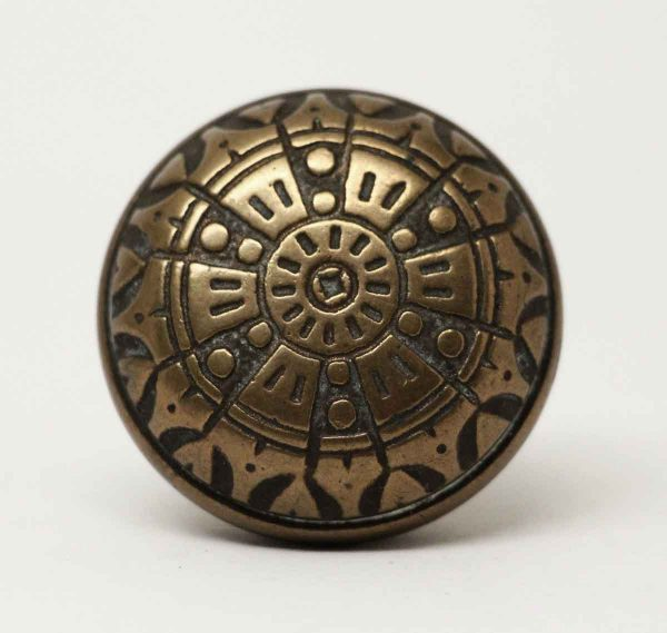 Single Decorative Six Fold Bronze Pull - Door Knobs