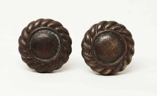 Pair of Bronze Traditional Cabinet Knobs - Cabinet & Furniture Knobs