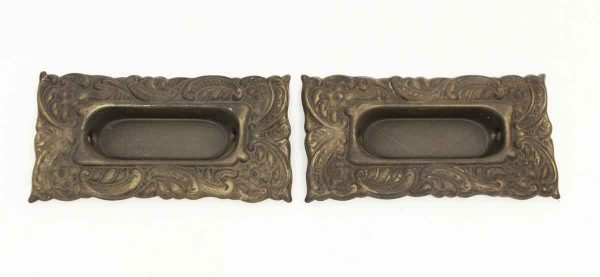 Pair of Bronze Decorative Sash Lifts - Window Hardware
