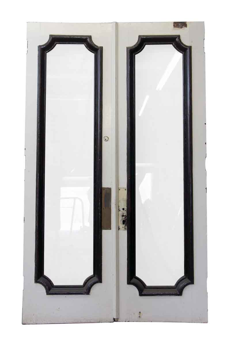 Commercial Swing Doors : Tall double swing doors with full glass panel olde good